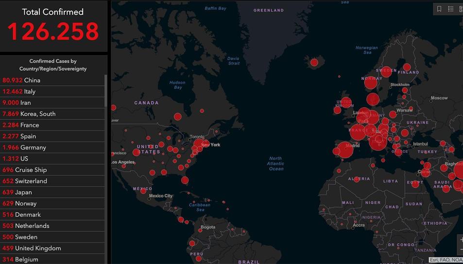 Resultado de imagen para mapa pandemia